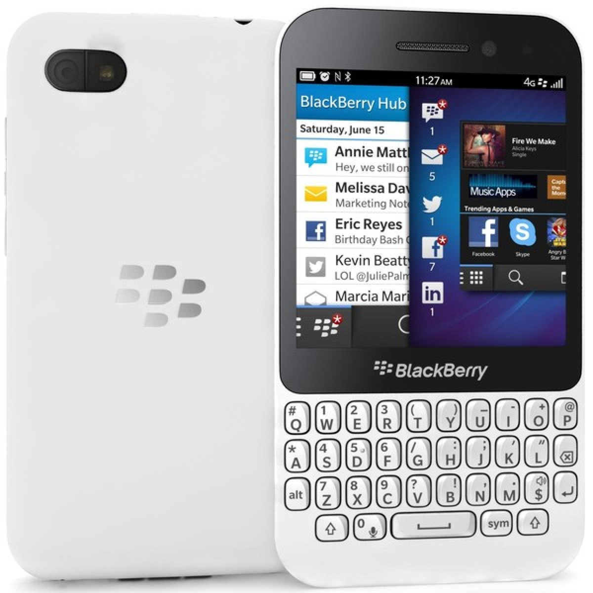 BlackBerry Q5 Brand New Unlocked White