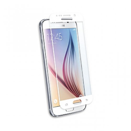 Samsung Galaxy S6 Qmadix White Tech-Armor Edge to Edge Tempered Glass screen protector