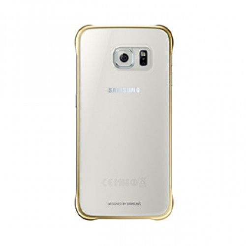 Samsung Galaxy S6 OEM Gold Clear Protective Cover