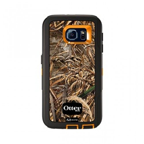 Samsung Galaxy S6 Otterbox Orange/Black (Max 5) Camo Defender series case