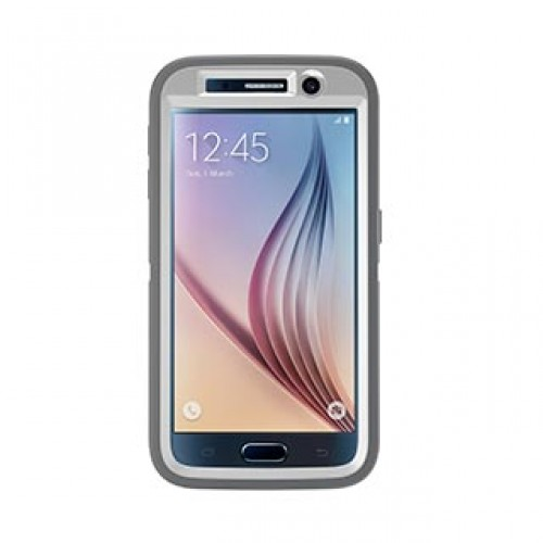 Samsung Galaxy S6 Otterbox White/Grey (Glacier) Defender series case