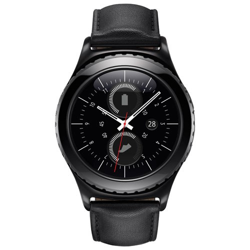 Samsung Gear S2 Classic Smartwatch with Heart Rate Monitor - Black/Blue