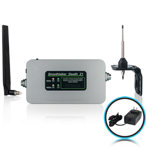 Stealth Z1 60dB Building Booster Kit With Omni Directional Antennas and F connectors