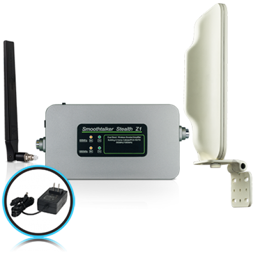 Stealth Z1 72dB Building Booster Kit With Directional Outside Antenna and F connectors