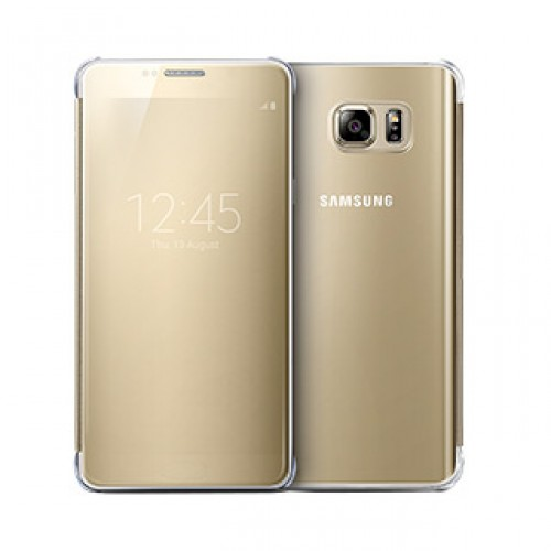 Samsung Galaxy Note 5 OEM Gold Clear View Cover